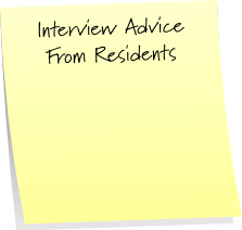 Interview Advice From Residents