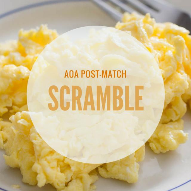 AOA Post-Match Scramble