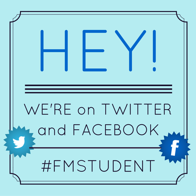 FMstudent is on Twitter and Facebook
