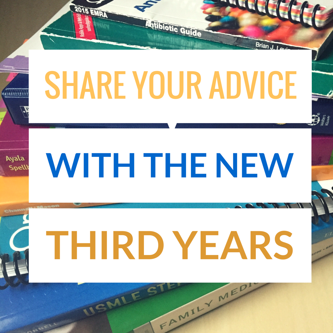 Share your Knowledge with the New Third Years!
