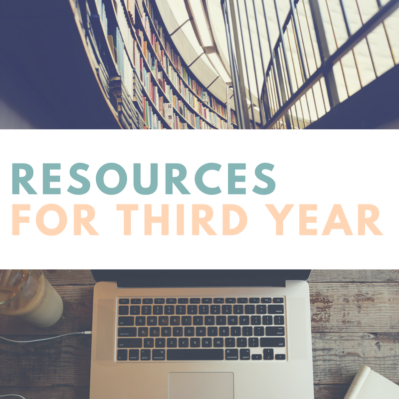 Resources for Third Year
