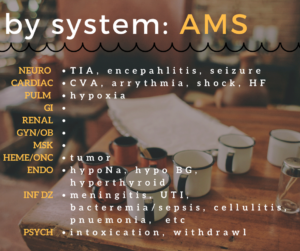 Differential Diagnosis by System