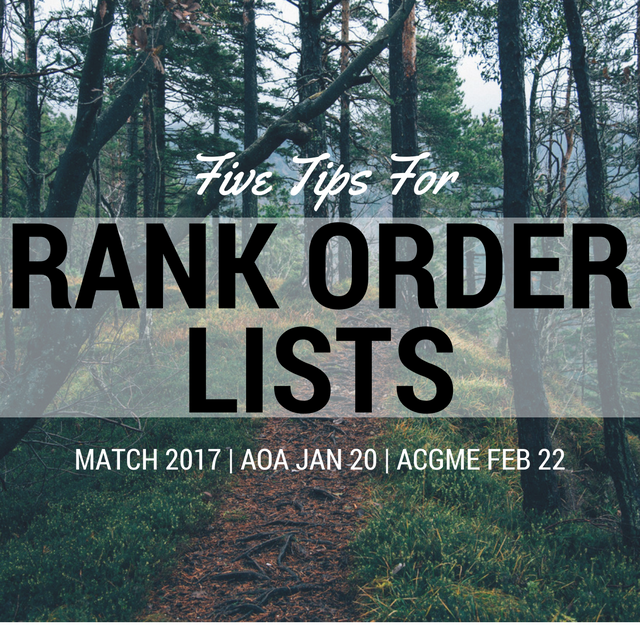 FMstudent's Give Tips for Your Rank Order Lists