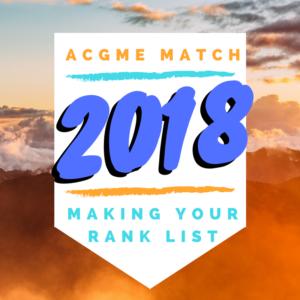 ACGME Match 2018