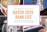 Match 2019 Rank Order List