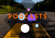 """Image of the road, with text """"2019 PODCASTS"""""""